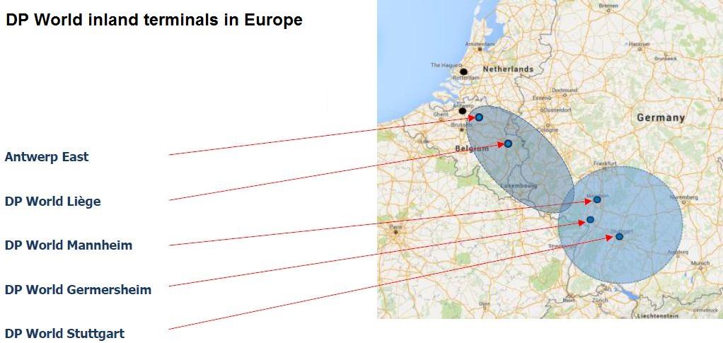 DP World inland terminals in Europe